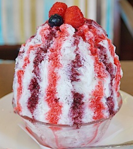 ブルーリバーカフェ・カキ氷